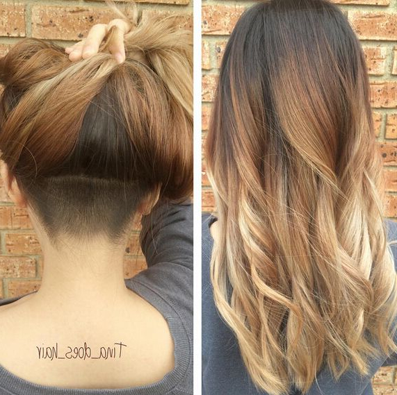 27 Stylish Fancy Undercut Hairstyle! Check Out Chic & Glam Undercut Inside Long Hairstyles Shaved Underneath (View 3 of 25)