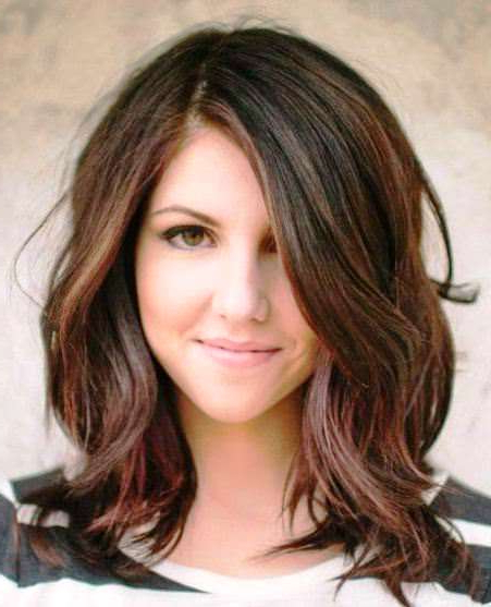 27 Super Easy Medium Length Hairstyles For Thick Hair In Medium Long Haircuts For Thick Hair (View 20 of 25)