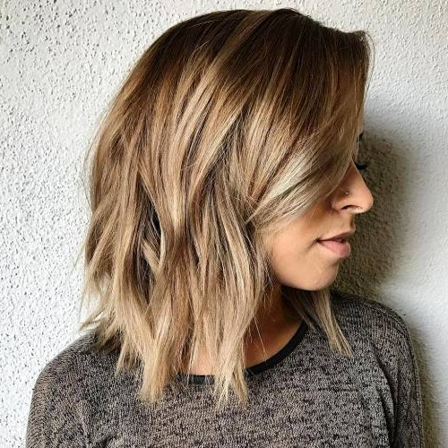 27 Super Easy Medium Length Hairstyles For Thick Hair Inside Medium Long Haircuts (View 22 of 25)