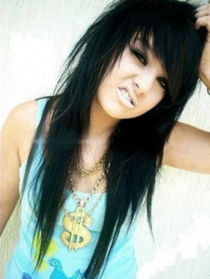 28+ Albums Of Edgy Haircuts For Long Hair With Bangs | Explore Throughout Edgy Long Haircuts With Bangs (View 25 of 25)
