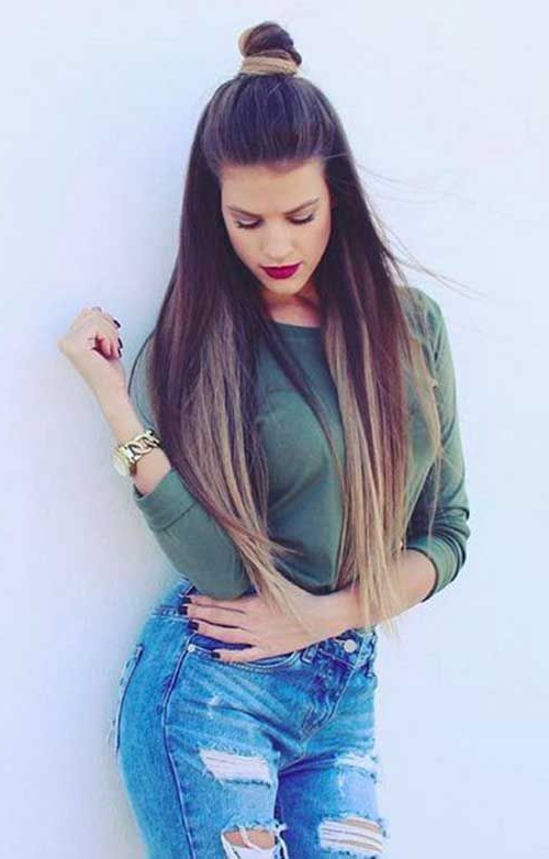 28+ Albums Of Hair Style Girl For Jeans Top | Explore Thousands Of Regarding Long Hairstyles For Jeans (View 13 of 25)
