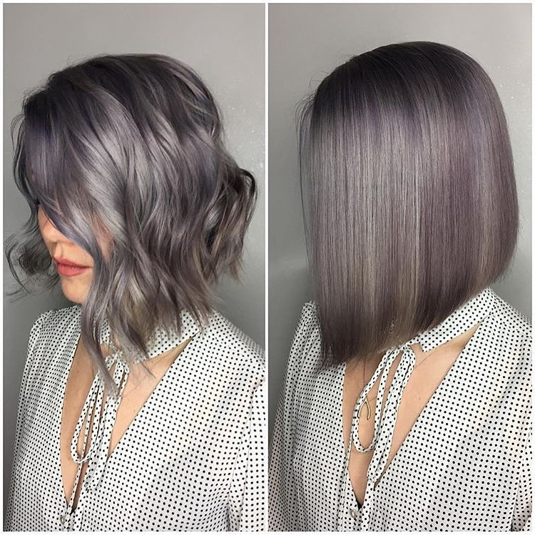 28 Best New Short Layered Bob Hairstyles – Popular Haircuts In Loose Layers Hairstyles With Silver Highlights (View 15 of 25)