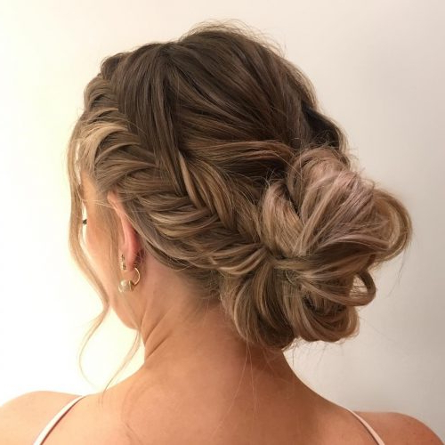 28 Cute & Easy Updos For Long Hair (2019 Trends) With Regard To Classic Prom Updos With Thick Accent Braid (View 7 of 25)