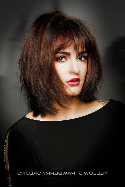 28 Most Flattering Bob Haircuts For Round Faces In 2019 For Long Haircuts With Bangs For Round Faces (View 17 of 25)