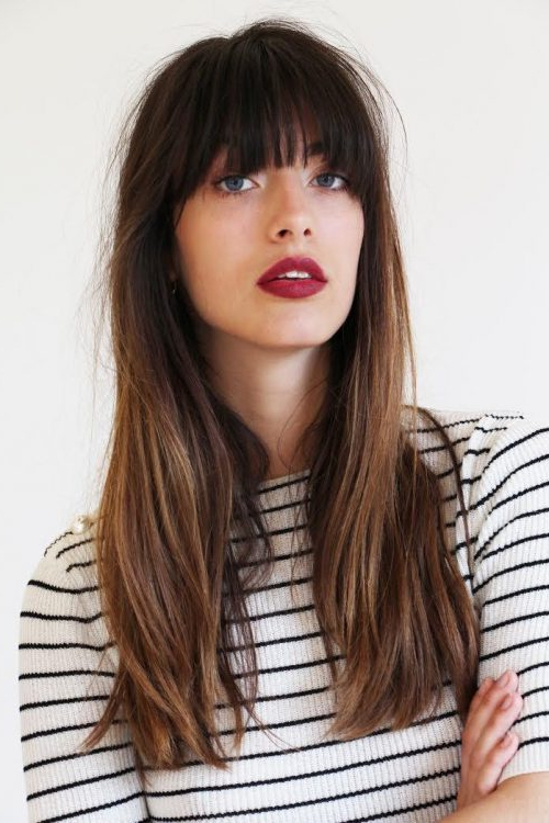 28 Perfect Hairstyles For Straight Hair (2019's Most Popular) For Long Straight Hairstyles Without Bangs (View 4 of 25)