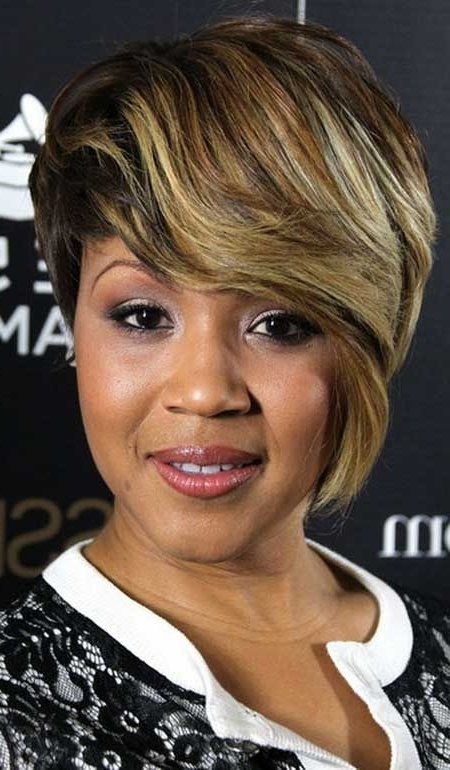 28 Trendy Black Women Hairstyles For Short Hair – Popular Haircuts With Regard To Long Hairstyles With Bangs For Black Women (View 16 of 25)