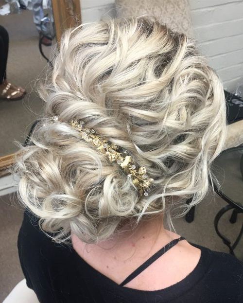 29 Curly Updos For Curly Hair (See These Cute Ideas For 2019) Intended For Romantic Prom Updos With Braids (View 24 of 25)