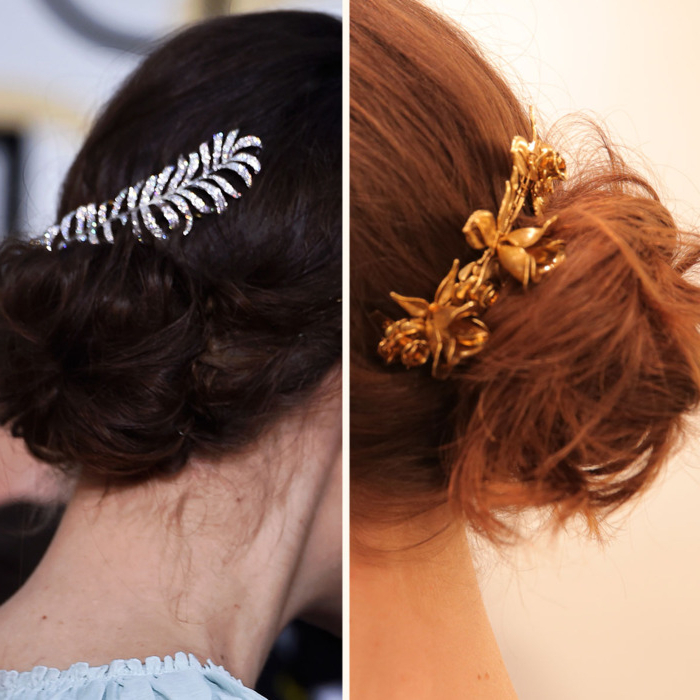 3 Easy, Fancy Ways To Wear A Hair Comb Like Keira Knightley Regarding Side Bun Prom Hairstyles With Jewelled Barrettes (View 5 of 25)
