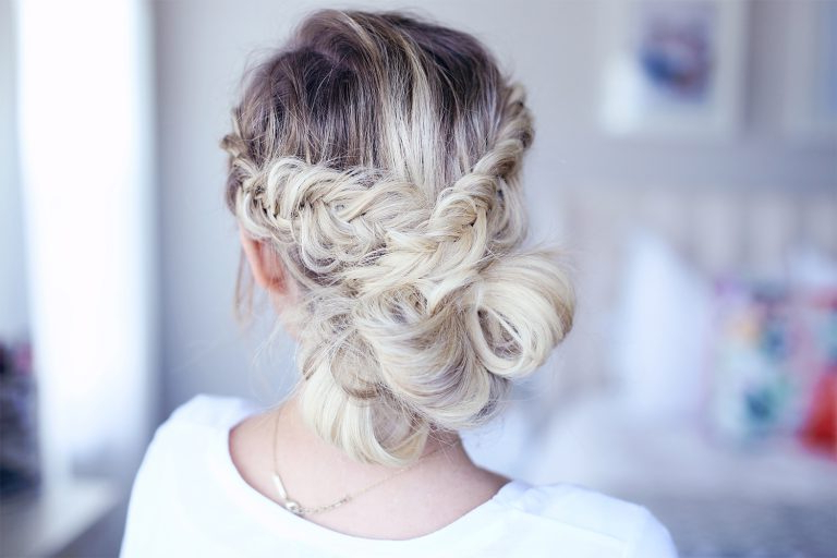 3 Easy Prom Updos   Cute Girls Hairstyles Inside Bun And Three Side Braids Prom Updos (View 24 of 25)