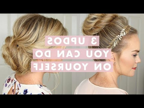 3 Stunning Updos That You Can Do On Yourself! | Hair Tutorial – Youtube Throughout Long Hairstyles Do It Yourself (View 22 of 25)