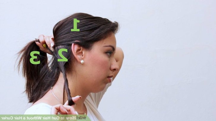 3 Ways To Curl Hair Without A Hair Curler – Wikihow With Curlers For Long Hair Thick Hair (View 19 of 25)