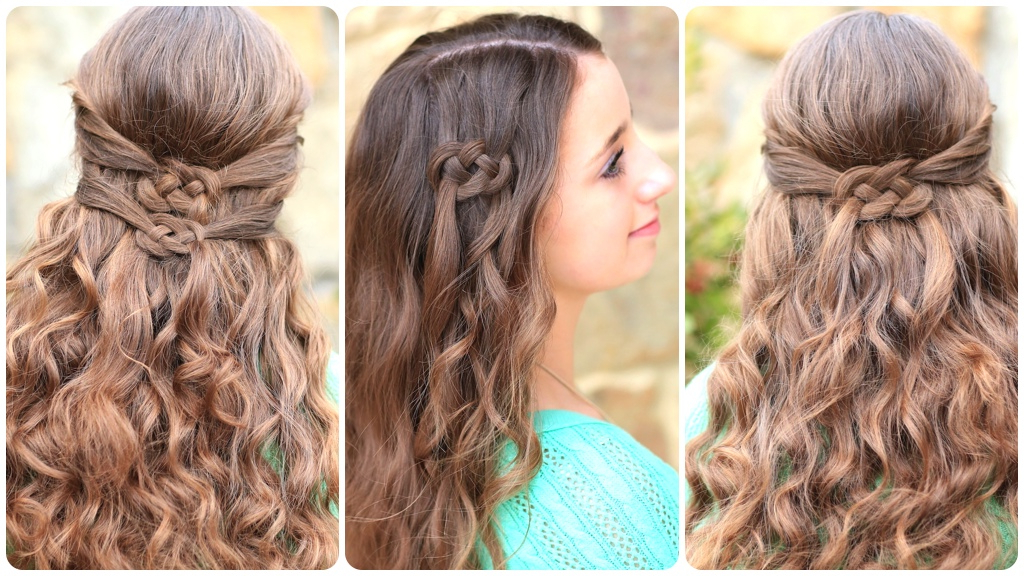 3 Ways To Wear A Celtic Knot | St Patrick's Day Hairstyles | Cute Inside Long Hairstyles Knot (View 11 of 25)