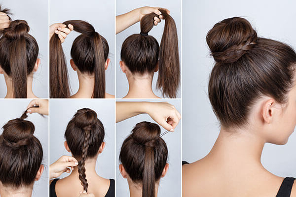3 Wedding Hairstyles To Try At Home Without Heat | Bebeautiful Regarding Braid And Fluffy Bun Prom Hairstyles (View 20 of 25)