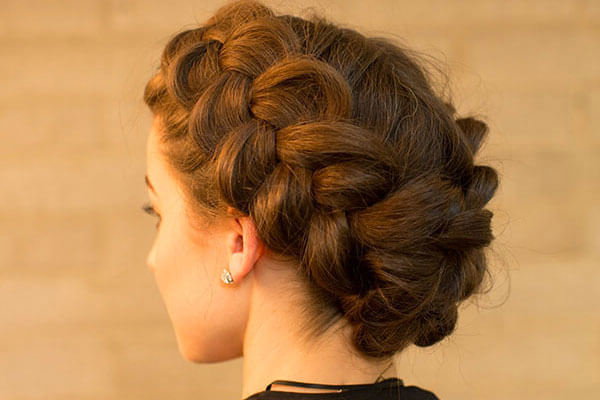 3 Wedding Hairstyles To Try At Home Without Heat | Bebeautiful Regarding Braid And Fluffy Bun Prom Hairstyles (View 12 of 25)