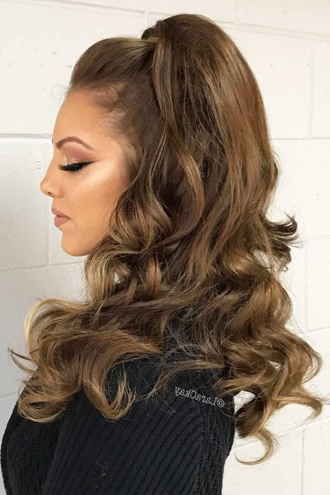 30 Awesome Braided Half Up Half Down Hairstyles For Your Prom Within Half Prom Updos With Bangs And Braided Headband (View 2 of 25)