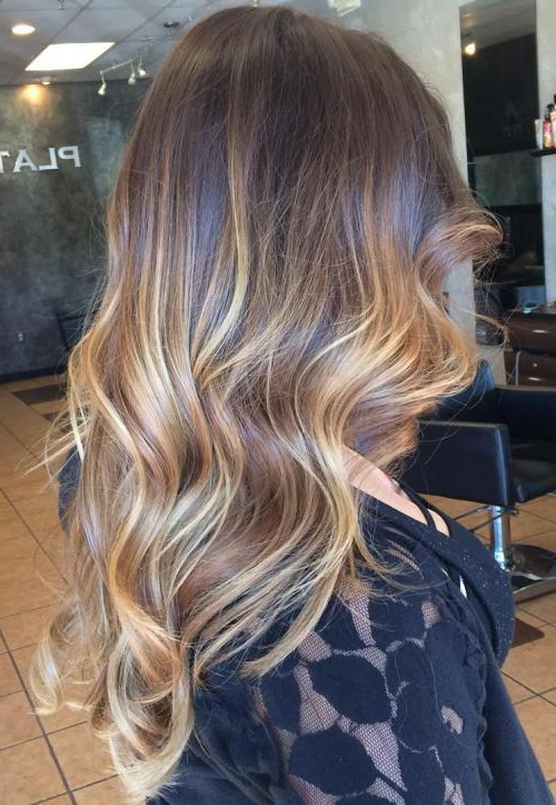 30 Best Balayage Hairstyles 2019 – Balayage Hair Color Ideas: Blonde Inside Curly Golden Brown Balayage Long Hairstyles (View 3 of 25)
