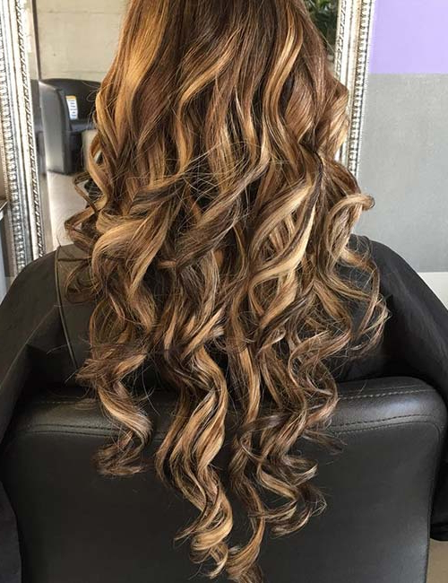 30 Best Highlight Ideas For Dark Brown Hair Pertaining To Highlights For Long Hair (View 17 of 25)