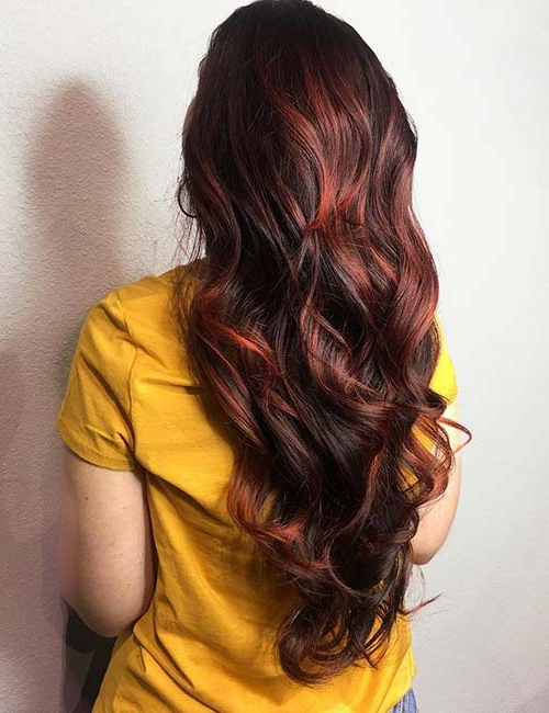 30 Best Highlight Ideas For Dark Brown Hair With Regard To Highlights For Long Hair (View 22 of 25)