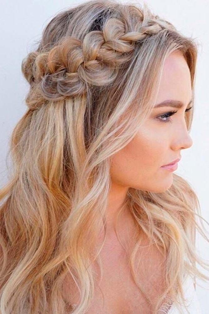30 Best Prom Hair Ideas 2019: Prom Hairstyles For Long & Medium Hair With Twisted Prom Hairstyles Over One Shoulder (View 4 of 25)