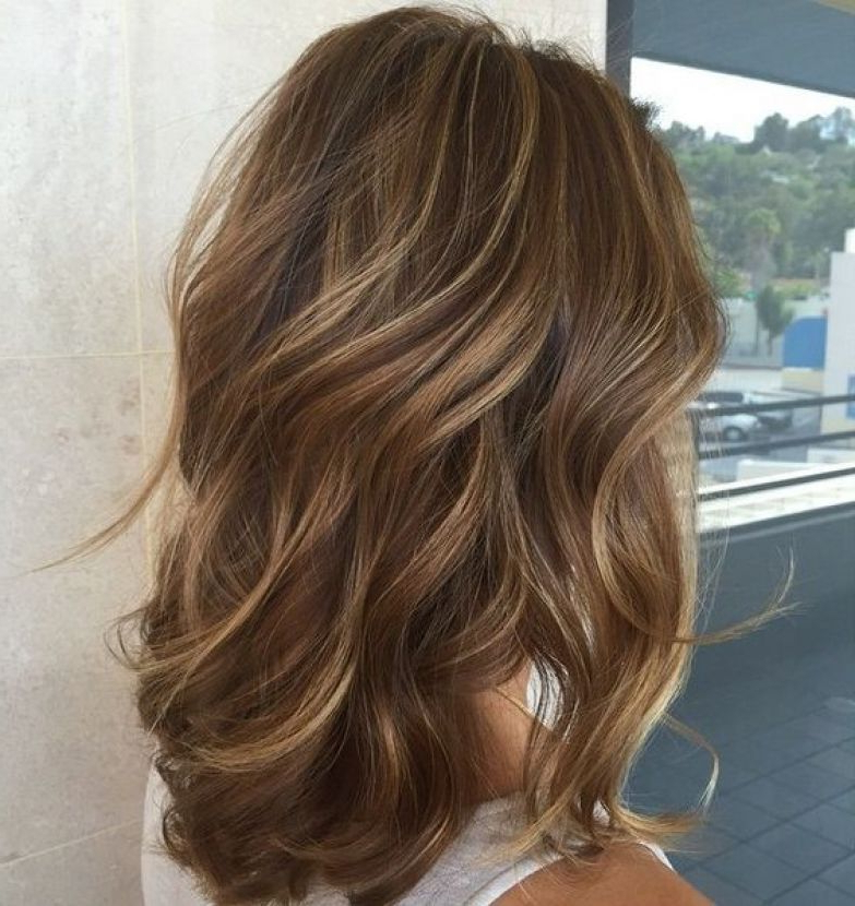 30 Caramel Highlights For Women To Flaunt An Ultimate Hairstyle Inside Long Hairstyles Brown With Highlights (View 18 of 25)