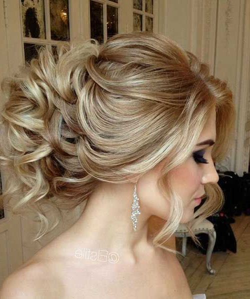 30 Charming And Dazzling Prom Updos For Women – Haircuts In Big Curly Bun Prom Updos (View 14 of 25)