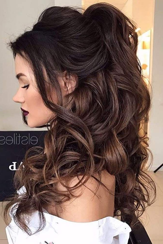 30 Chic Half Up Half Down Bridesmaid Hairstyles | Freaking Fabulous Within Long Hairstyles Half Up Curls (View 5 of 25)