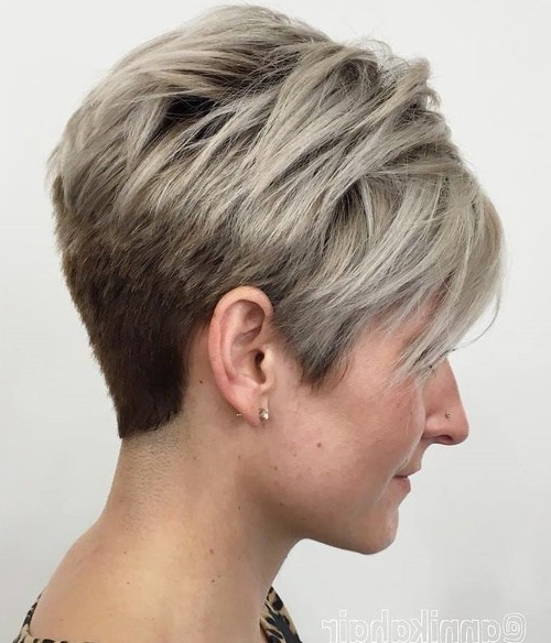 30 Chic Short Pixie Cuts For Fine Hair 2018 | Styles Weekly Inside Long Elfin Hairstyles (View 20 of 25)