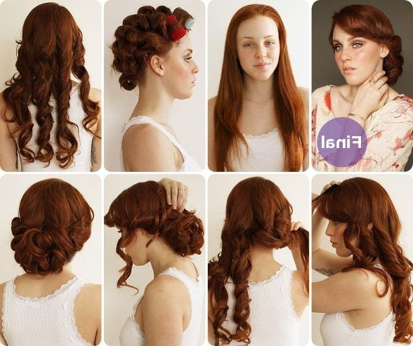 30 Diy Vintage Hairstyle Tutorials For Short, Medium, Long Hair Throughout Vintage Updos For Long Hair (View 13 of 25)