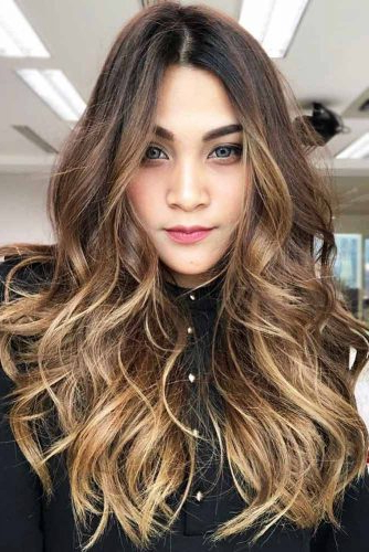 30 Flattering Haircuts And Hairstyles For Diamond Face Shape Regarding Long Hairstyles Messy (View 12 of 25)