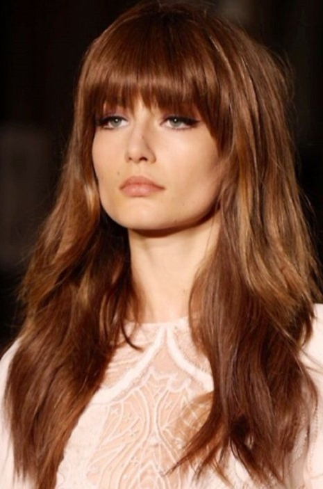 30 Haircuts For Women With Bangs – Hairstyles & Haircuts For Men & Women Regarding Long Haircuts Bangs (View 8 of 25)