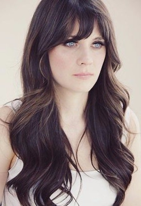 30 Haircuts For Women With Bangs – Hairstyles & Haircuts For Men & Women With Regard To Bangs Long Hairstyles (View 24 of 25)