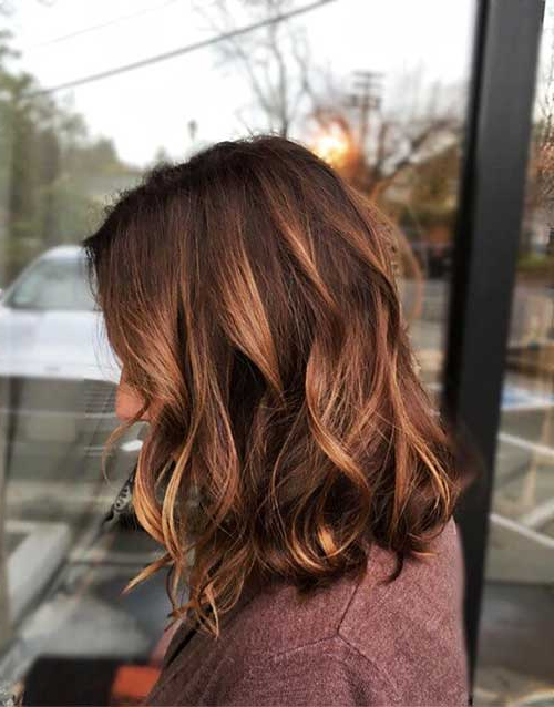 30+ Ideas About Short Brown Hair With Highlights For Warm Toned Brown Hairstyles With Caramel Balayage (View 11 of 25)