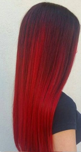 30 Incredible Ideas For Red Ombre Hair – Best In (2019) | Hair | Red Pertaining To Long Hairstyles Red Ombre (View 11 of 25)