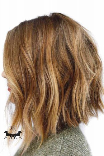 30 Medium Length Hairstyles Ideal For Thick Hair | Lovehairstyles With Choppy Dimensional Layers For Balayage Long Hairstyles (View 19 of 25)