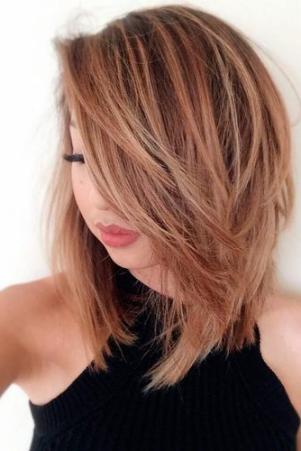 30 Medium Length Hairstyles Ideal For Thick Hair | Lovehairstyles With Medium Long Haircuts For Thick Hair (View 12 of 25)