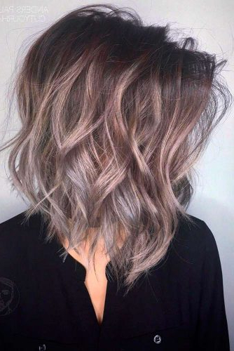 30 Medium Length Hairstyles Ideal For Thick Hair | Lovehairstyles With Medium Textured Layers For Long Hairstyles (View 9 of 25)