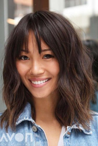 30 Medium Length Hairstyles Ideal For Thick Hair | Lovehairstyles Within Medium Long Haircuts For Thick Hair (View 14 of 25)
