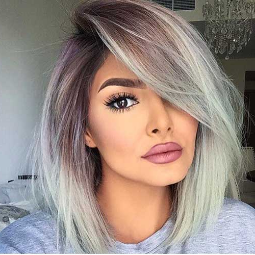 30+ Nice Short Grey Hairstyles Pertaining To Long Hairstyles For Gray Hair (View 18 of 25)