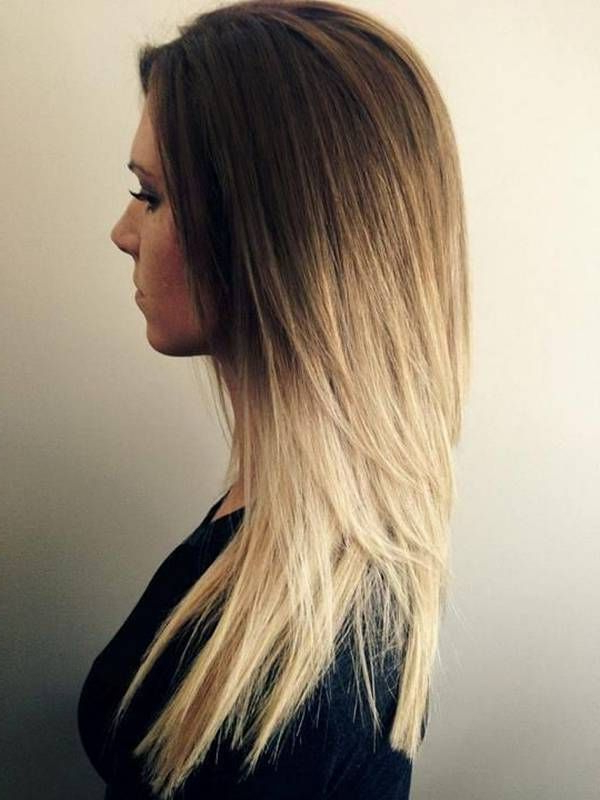 30 Simple And Easy Hairstyles For Straight Hair | Hair Colors For Long Hairstyles Dip Dye (View 2 of 25)