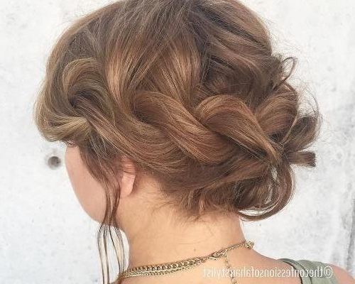 30 Stunning Prom Hairstyles For Short Hair 2018 – Hairstyles Ideas For Messy Twisted Chignon Prom Hairstyles (View 11 of 25)