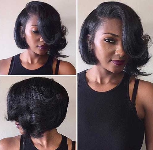 30+ Super Bob Weave Hairstyles   Bob Hairstyles 2018 – Short Throughout Long Bob Hairstyles With Bangs Weave (View 4 of 25)