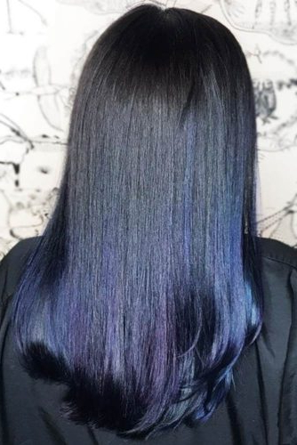 30 Tasteful Blue Black Hair Color Ideas To Try In Any Season Regarding Black Hair Long Layers (View 22 of 25)