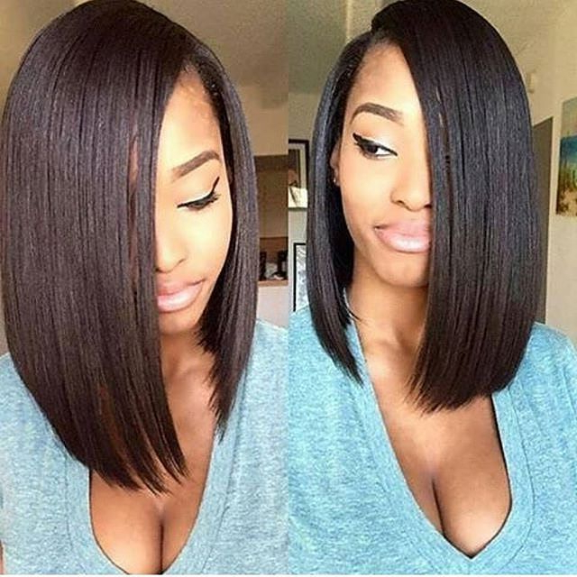 30 Trendy Bob Hairstyles For African American Women 2019 For Long Bob Hairstyles With Weave (View 11 of 25)