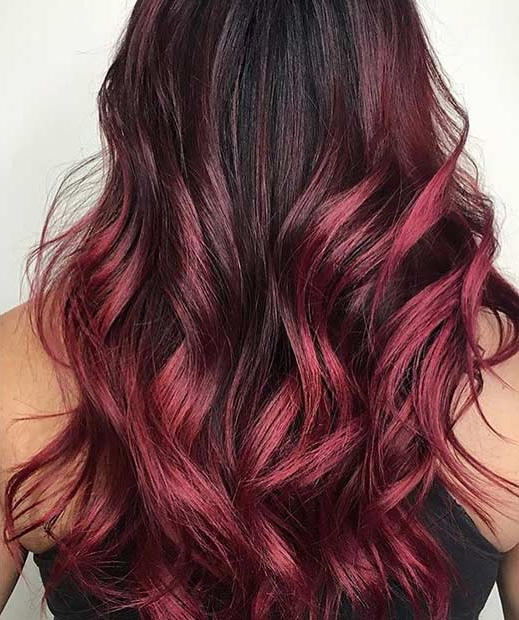 31 Best Red Ombre Hair Color Ideas | Stayglam Regarding Long Hairstyles Red Ombre (View 2 of 25)