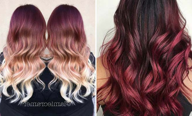 31 Best Red Ombre Hair Color Ideas | Stayglam With Long Hairstyles Red Ombre (View 13 of 25)