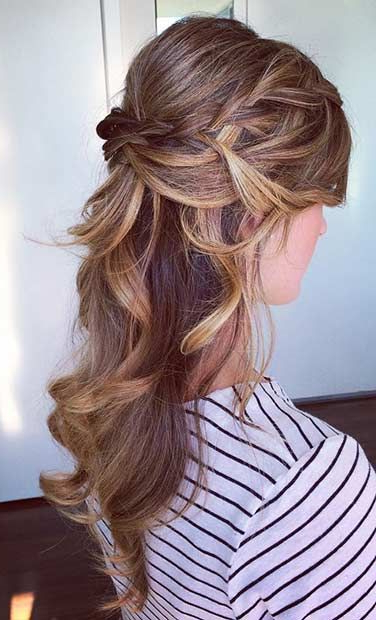 31 Half Up, Half Down Hairstyles For Bridesmaids | Hair Styles Regarding Long Hairstyles For Balls (View 5 of 25)