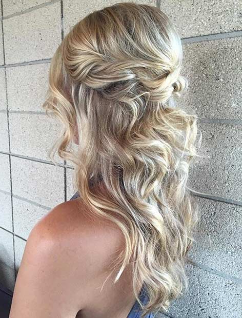 31 Half Up, Half Down Prom Hairstyles | Stayglam Pertaining To Long Hairstyles Down For Prom (View 24 of 25)