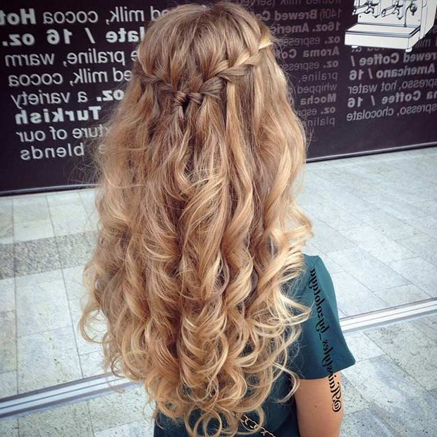 31 Half Up, Half Down Prom Hairstyles | Stayglam Throughout Long Hairstyles Half Up Curls (View 19 of 25)