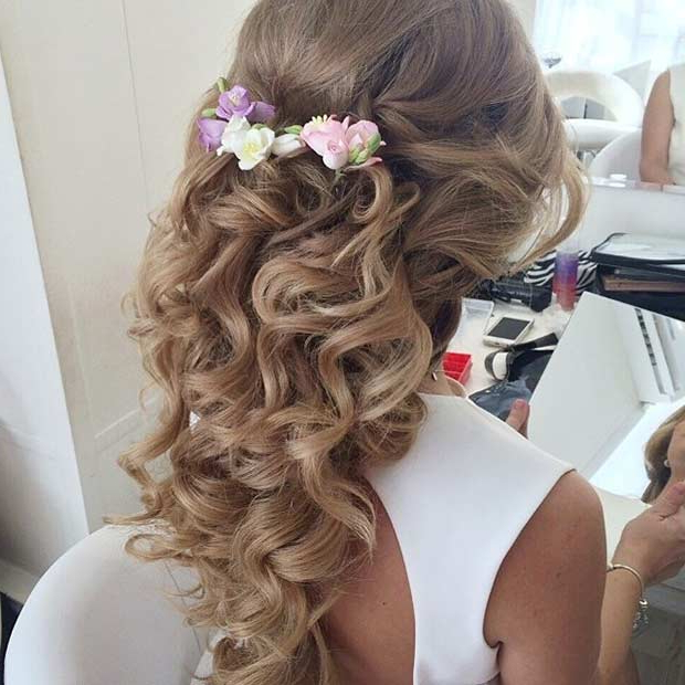 31 Half Up, Half Down Prom Hairstyles | Stayglam Within Curly Long Hairstyles For Prom (View 15 of 25)