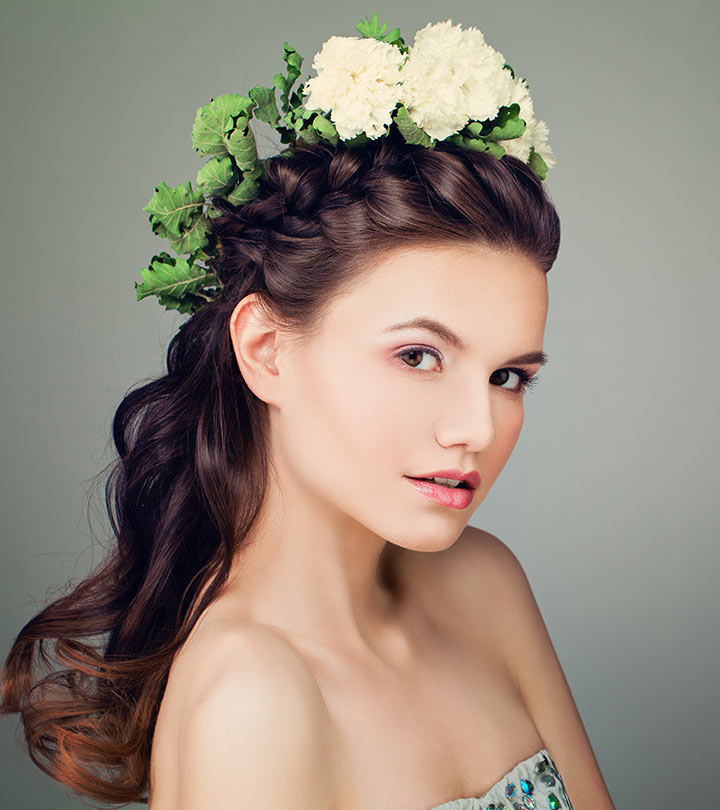 31 Incredible Half Up Half Down Prom Hairstyles Throughout Floral Braid Crowns Hairstyles For Prom (View 24 of 25)
